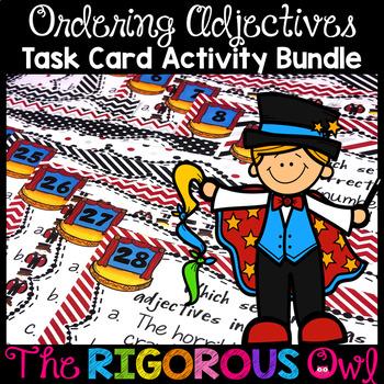 Ordering Adjectives Task Card Activity Bundle