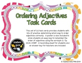 Ordering Adjectives Task Cards - Set of 20