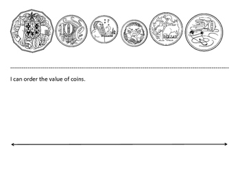 Ordering Australian Coins and Money Amounts