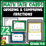 Ordering & Comparing Fractions Task Cards Grades 4-5