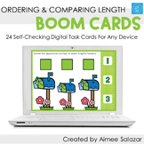Ordering & Comparing Length Boom Cards / Digital Task Card
