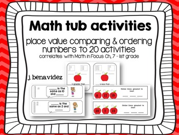 Ordering, Comparing, and place value math tub resources