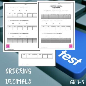 Ordering Decimal Assessment