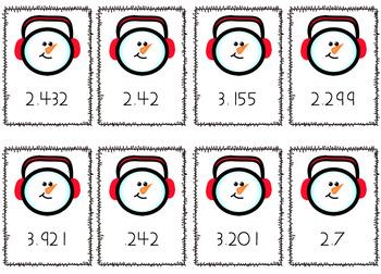 Ordering Decimal Cards SOL 5.2