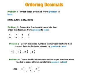 ordering decimal numbers unit and worksheet by sacs education corner ordering decimal numbers unit and worksheet