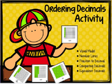 "Ordering Fractions and Decimals ""Fraction Activity"""