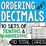 Ordering Decimals Center Activities
