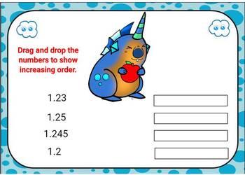 Ordering Decimals Digital Boom Cards Task Cards