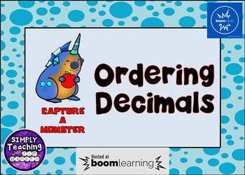 Ordering Decimals Digital Boom Cards Task Cards Eureka Math Grade 5 unit 1