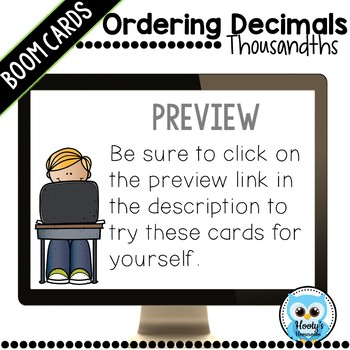 Ordering Decimals Digital Task Cards