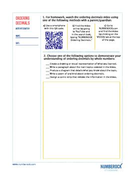 Ordering Decimals | FREE Poster, Worksheet, & Fun Video | 4th-5th Grade