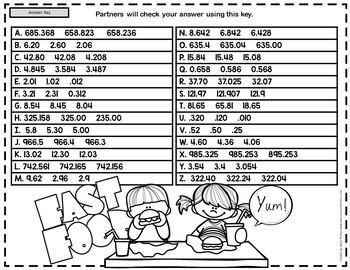 Ordering Decimals Game: 5th Grade Math Game