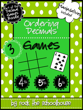 Ordering Decimals Games
