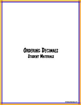 Ordering Decimals - Step-by-Step Lesson Unit