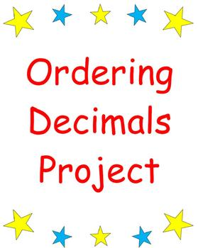 Ordering Decimals Math Project or Center Activity