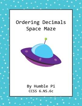 Ordering Decimals Maze- CCSS 6.NS.7