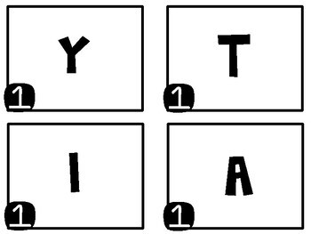 """Ordering Decimals Task Cards - """"Making Words"""" Activity"""