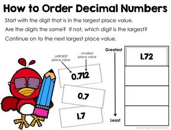 Ordering Decimals Task Cards