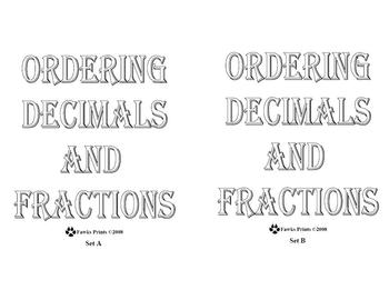 Ordering Decimals and Fractions Game