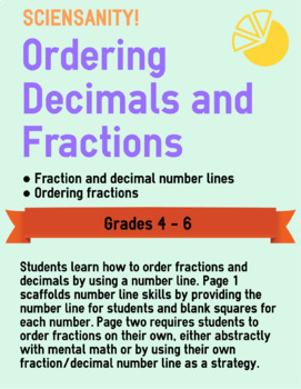 Ordering Decimals and Fractions on a Number Line