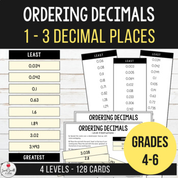 Ordering Decimals from Least to Greatest - Up to 3 Decimal Places