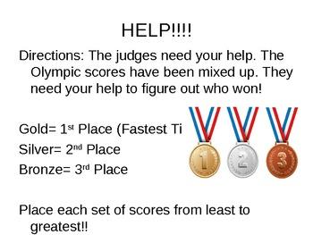 Ordering Decimals using 2012 Olympics Data