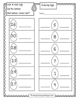Ordering Eggs: A mini math center for counting on