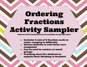 Ordering Fraction Free Sample Set