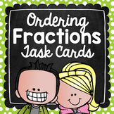 Ordering Fractions Task Cards for Centers, Review, Scoot,