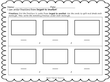 Ordering Fractions