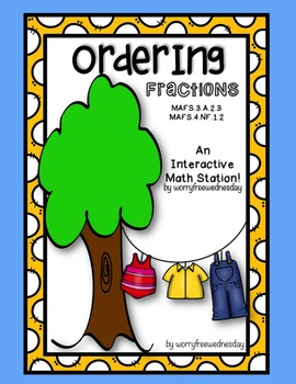 Ordering Fractions Activity