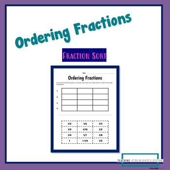 Ordering Fractions Cut and Glue Worksheet