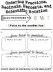 Ordering Fractions, Decimals, Percents, and Scientific Notation Doodle Notes