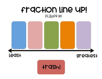 Ordering Fractions Game