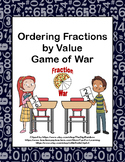Ordering Fractions- Game of War- Grades 4,5 and 6-Station
