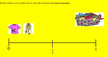 Ordering Fractions & Mixed Numbers on a Number Line Review - Lesson Bundle 5