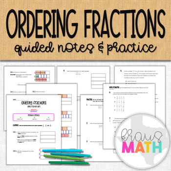 Ordering Fractions Notes and Practice