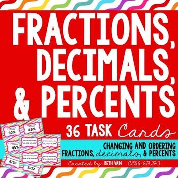 Ordering Fractions, Percents, and Decimals