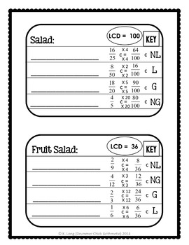 Ordering Fractions: Recipe Book Activity and Student Reference Sheet