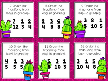 Ordering Fractions Scoot