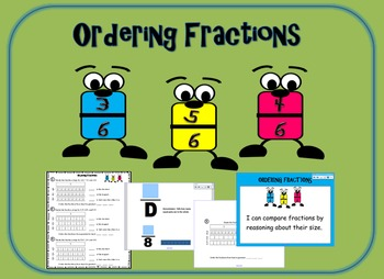Ordering Fractions: Smart Board Lesson and Worksheets