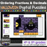 Halloween Ordering Fractions and Decimals Puzzles Google Slides™ Math Activities
