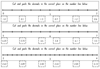 Ordering Fractions and Decimals on a Number Line