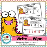 Ordering Fractions and Mixed Numbers on a Number Line Task Cards