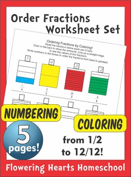 Ordering Fractions by Coloring