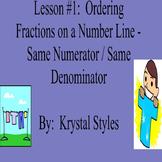 Ordering Fractions on a Number Line - Lesson Bundle 1