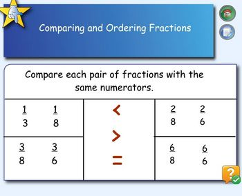 Ordering Fractions on Sentence Strips