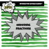 Ordering Fractions on a Number Line  Google Slides Activity  Digital/Virtual