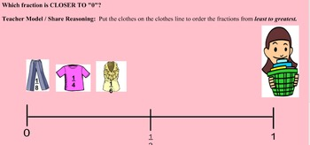 Ordering Fractions on a Number Line - Lesson Bundle 2