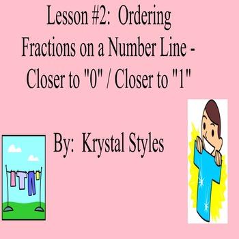 Ordering Fractions on a Number Line - Lesson Bundle 2